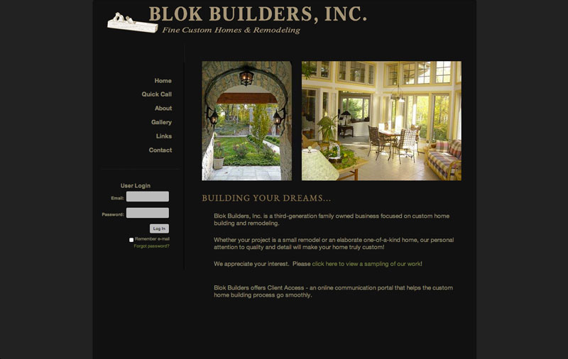 website for custom home builder