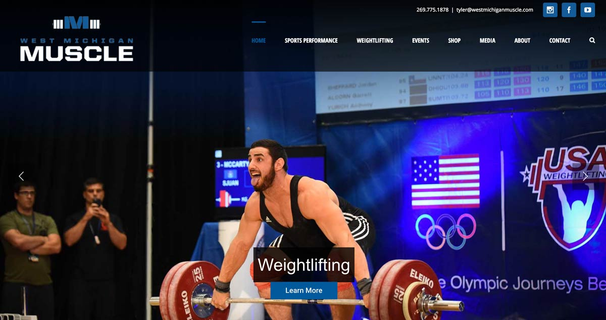 web design example: fitness