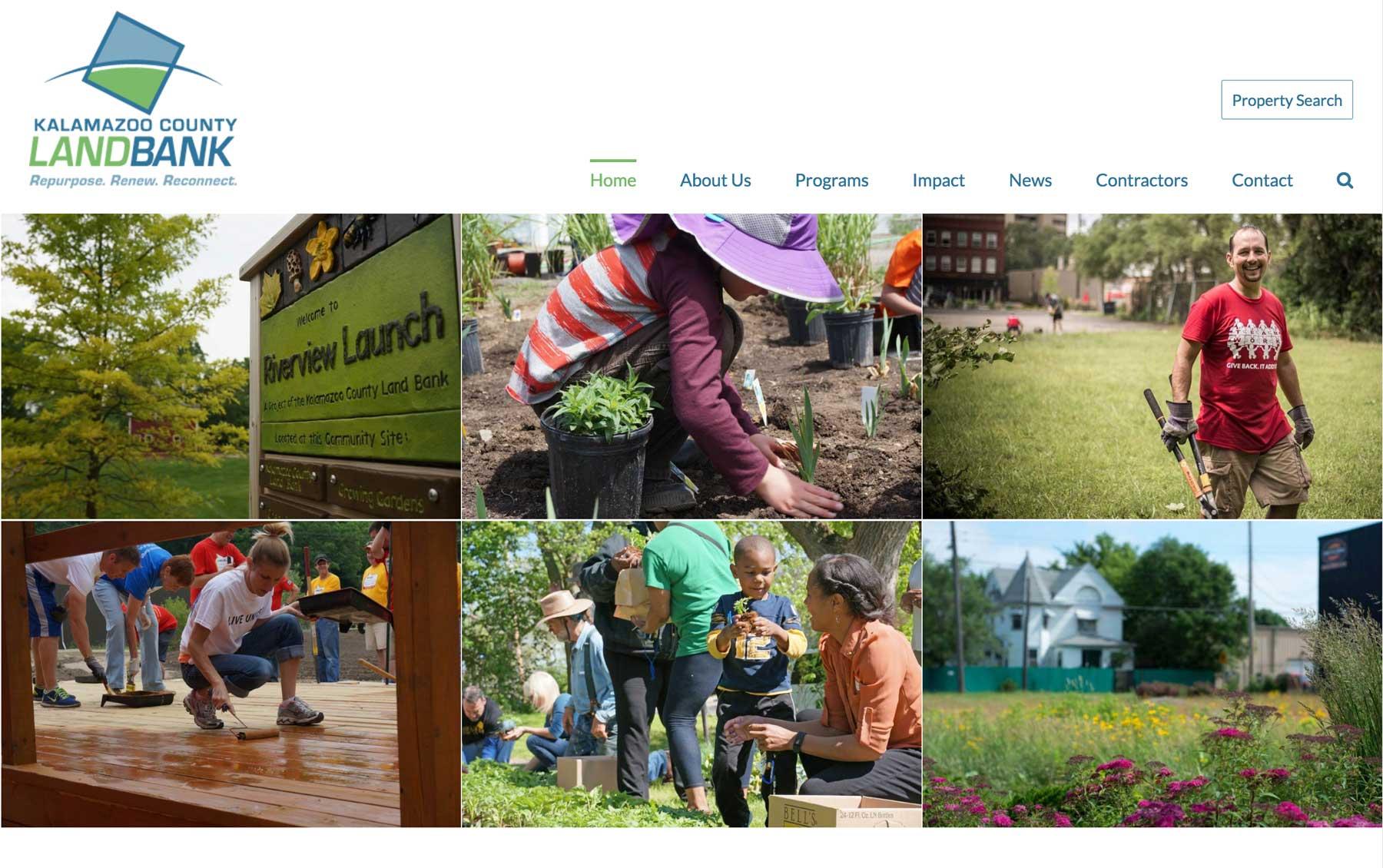 municipal web design example