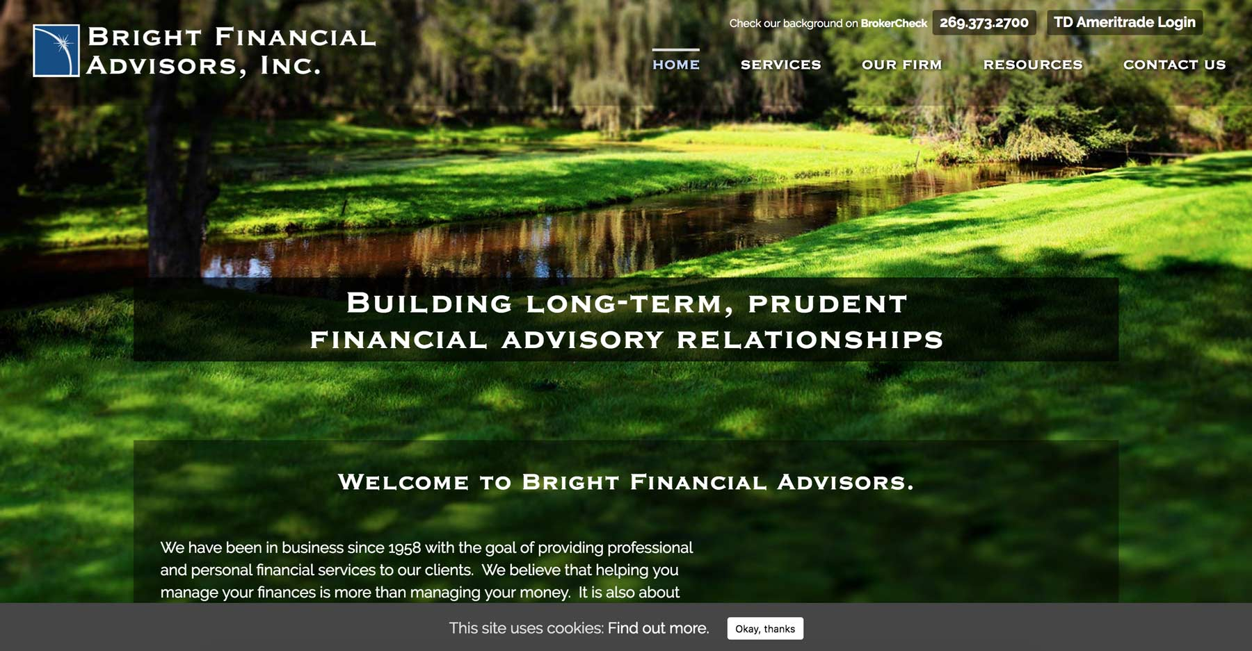 web design for financial advisors