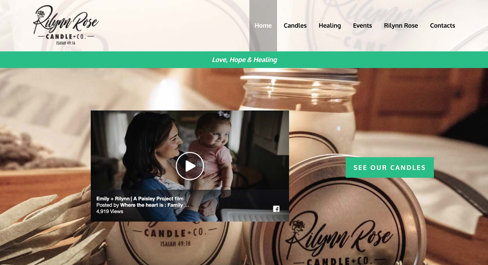 web design for candle company
