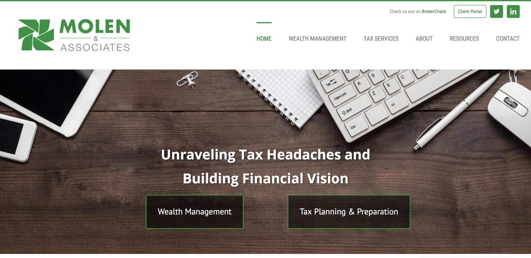 website design for finance