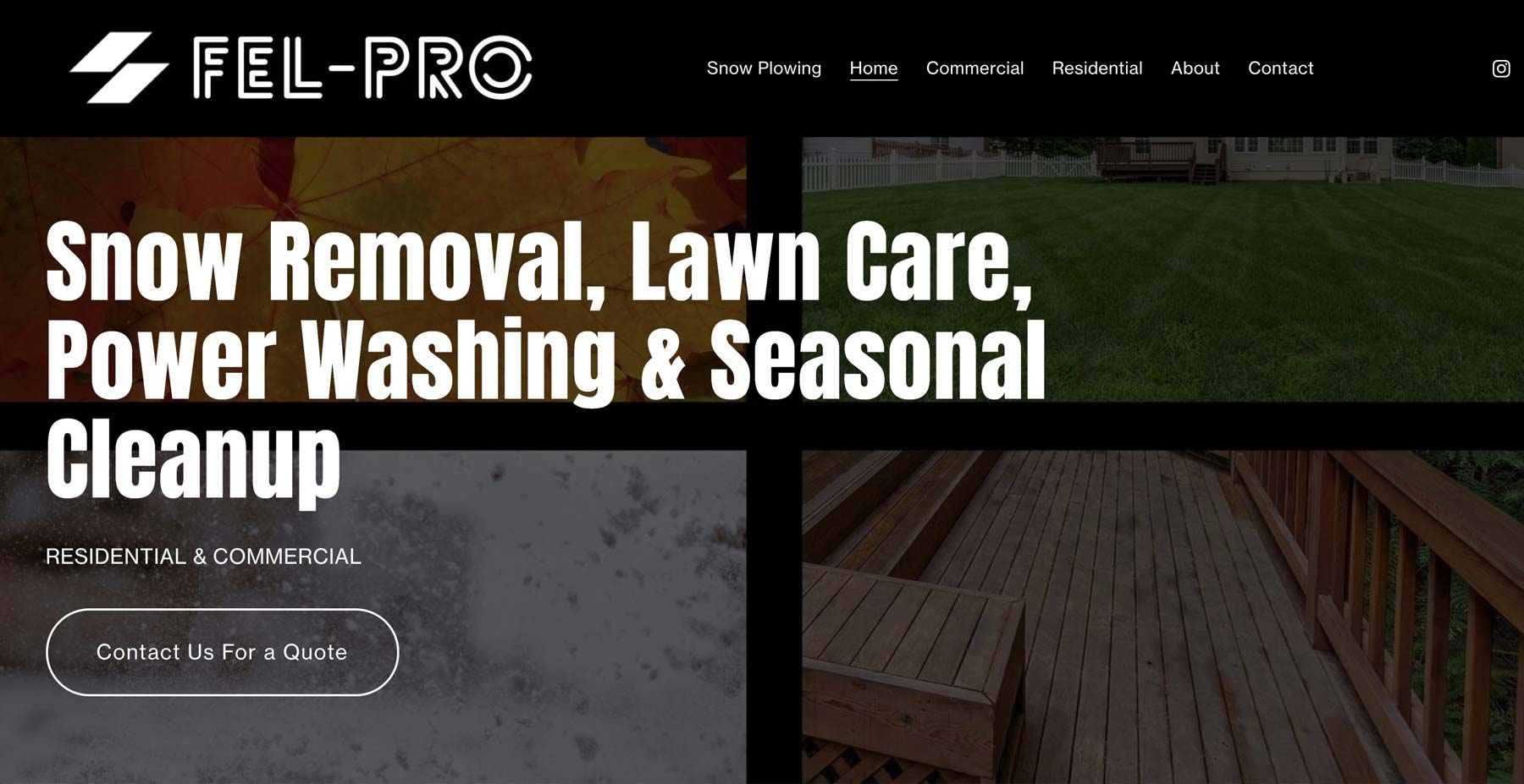 web design for property maintenance company