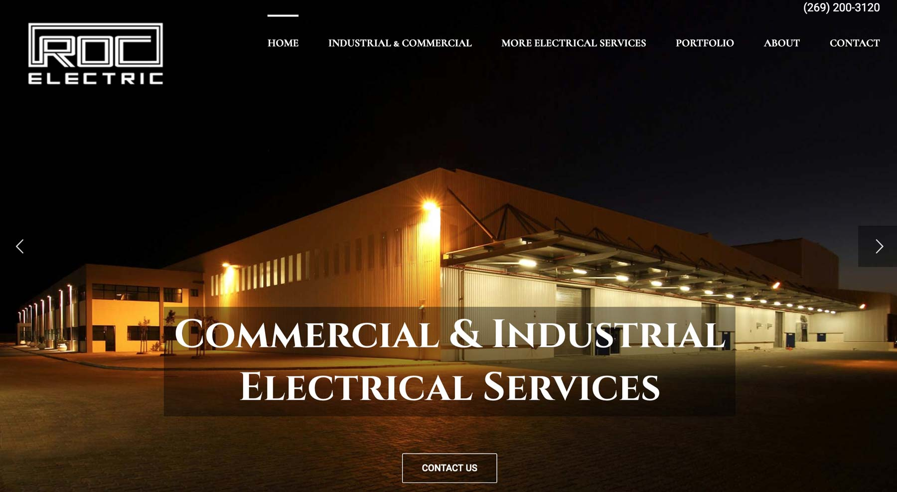 web design for electric company