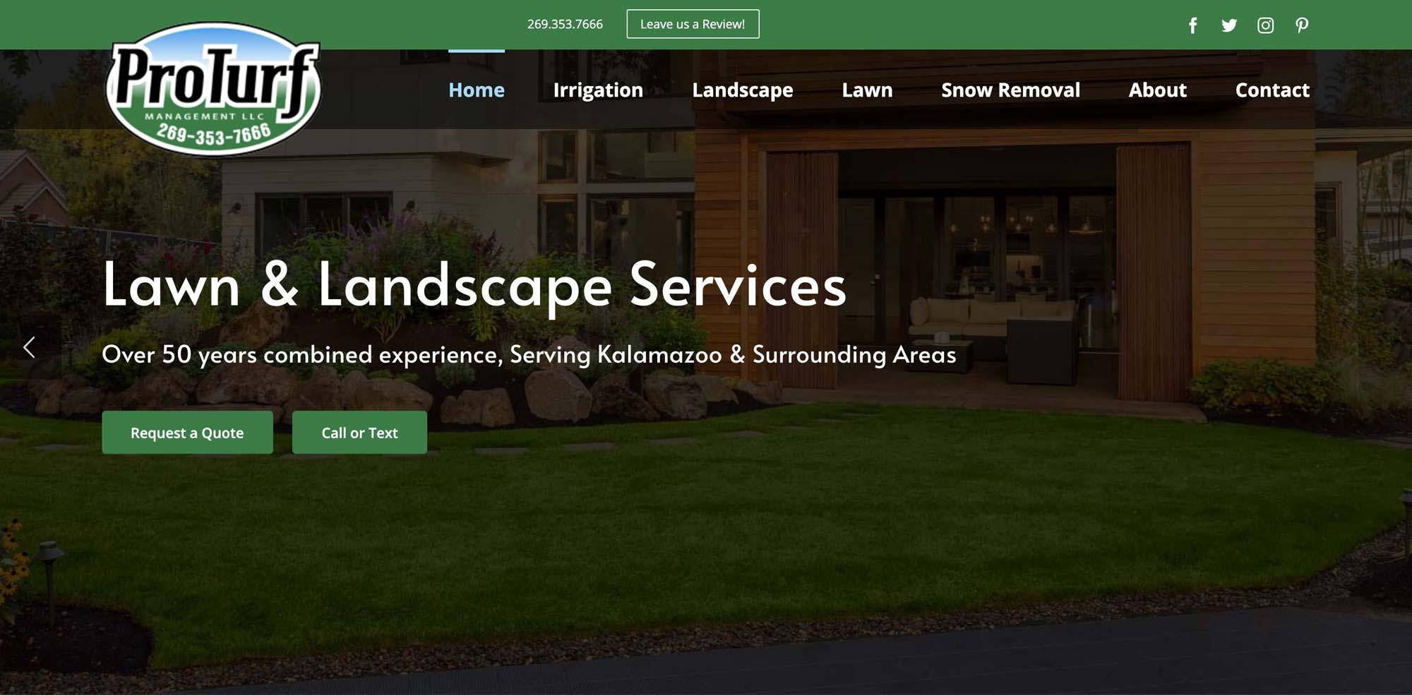 website design for lawncare-service
