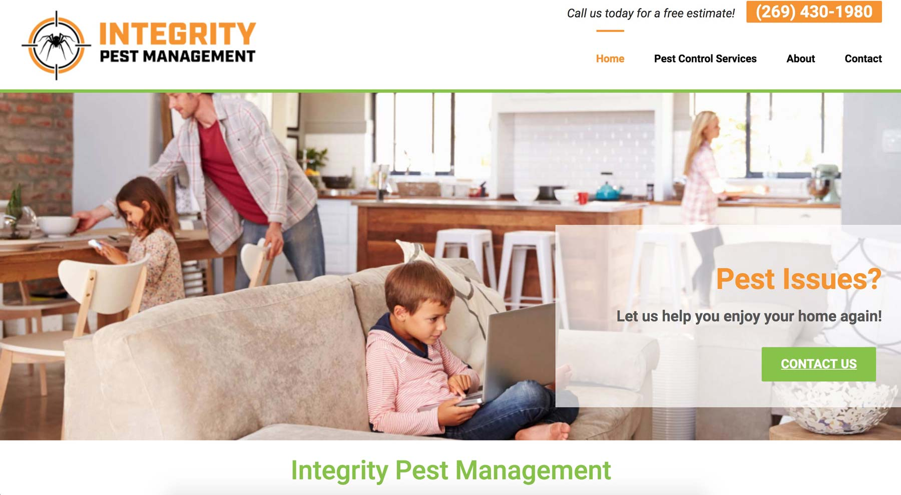 website design for pest control company